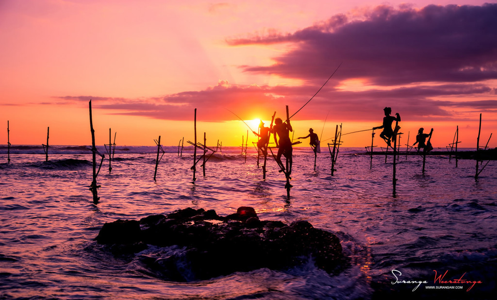 Amazing Photography, Stilt Fishermen in Sri Lanka