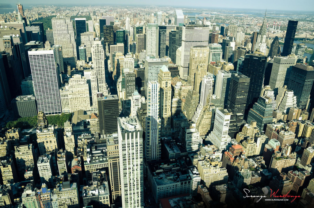 Amazing Travel Photography, View Over New York City.